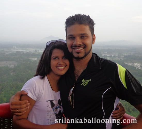 Hot air balloon ride in Dambulla