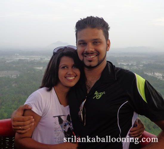 Hot air balloon ride in Dambulla